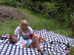 german outdoor gangbang orgy