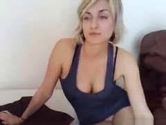 Hot blonde has oral, cowgirl and missionary sex in the bedroom.