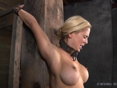 Torturing of babe's sexy assets