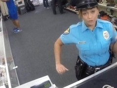 Lady police officer gets nailed in a pawnshop to earn cash