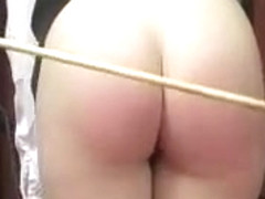 Girl spanked  and caned