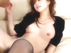 Fabulous Japanese model Akiho Yoshizawa in Amazing Blowjob, Stockings JAV clip