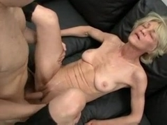 Horny Insatiable Granny Is A Total Cum Slut !
