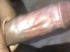 Horny and lonely with a big black cock time to masturbate