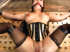 Katja Kassin  Mark Davis  Steve Holmes in Slave Wife gets Double Stuffed in Bondage - SexAndSubmis.