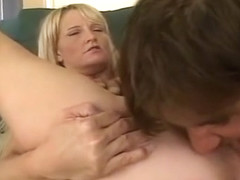 Big Tits Blonde Blowjob and Fingering