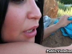 Busty Latin Honey Public Fucking