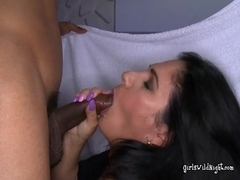 Office Girls Eagerly Suck Black Cock At A Party