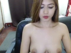 Hot Woni Sy shows off her tits