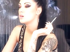 Smoking Trailer! abbiecatfetish.com