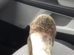 Shoeplay with flats in car