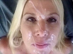 Cum facial with clean up