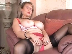 Fabulous Amateur record with Big Tits, Masturbation scenes
