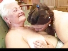 Granny Teaching How to be Lesbo two