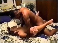 Cuckold tapes his wife having oral, missionary and cowgirl sex with a black guy.