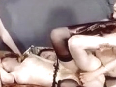 Hottest Amateur clip with Stockings, Threesome scenes