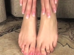 Capri Cavanni in Capri Not Only Plays With Her Wet Pussy But Also Her Sexy Feet - CapriCavanni