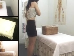 Hot Japanese voyeur massage clip with a lot of fingering