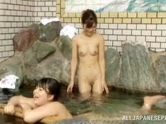 Amazing Japanese AV model with small tits bounces on dick