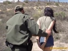 Hot latina Kimberly Gates gets pussy pounded by patrol man