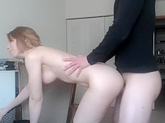 Cam fuck in the office on grandmas wingback chair