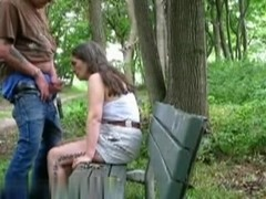 Nasty blowjob in Central Park